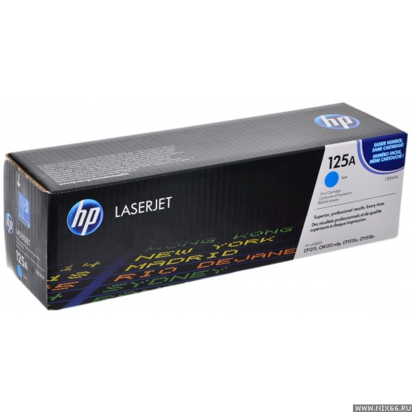 Картридж HP CB541A оригинальный для HP Color LaserJet CP1213, CP1214, CP1215