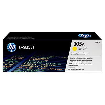 Картридж HP CE412A (305A) Yellow оригинальный для HP LaserJet Pro color M351a, M375nw, M451dn, M451dw, M451nw, MFP M475dn, M475dw (2600 страниц)