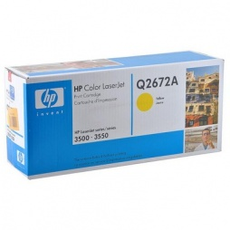 Картридж HP Q2672A (309A) yellow для HP Color LaserJet 3500, 3500n, 3550, 3550n (ресурс 4000 страниц)